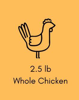 2.5 lb Chicken